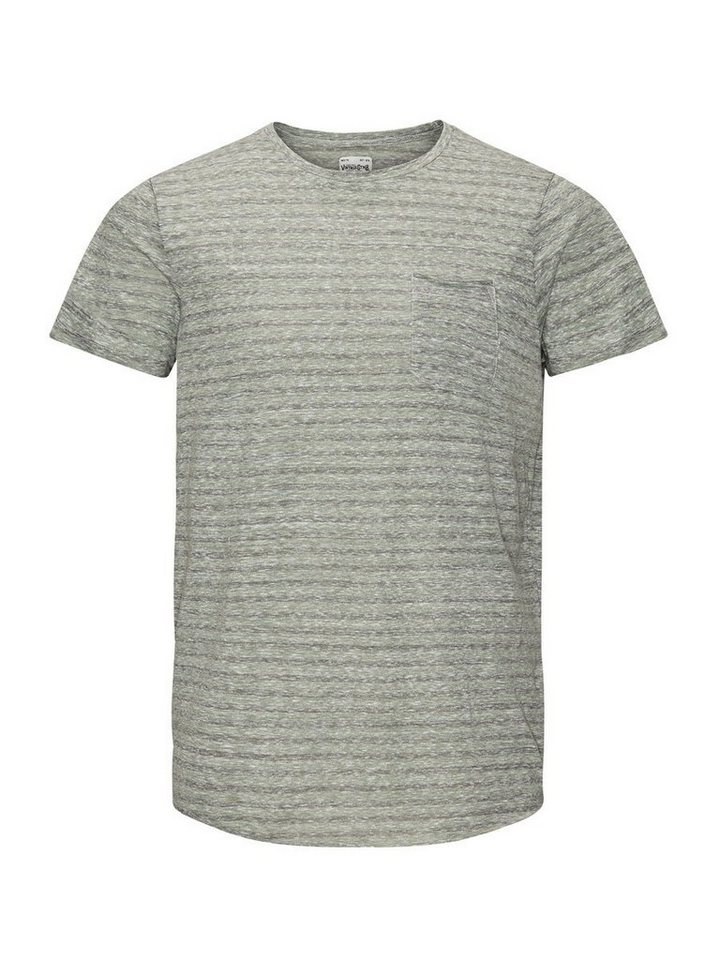 Jack & Jones Streifenmelange- T-Shirt in Olivine