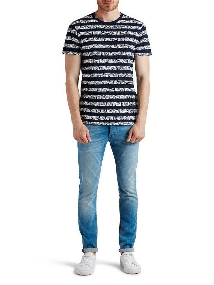 Jack & Jones Bedrucktes T-Shirt in Navy Blazer