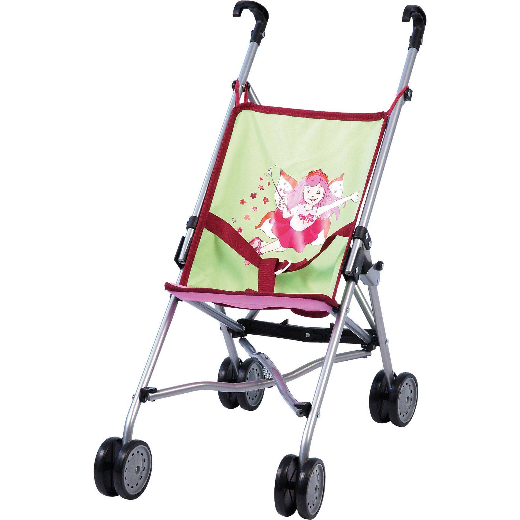 BAYER Puppenwagen Buggy pink/grün