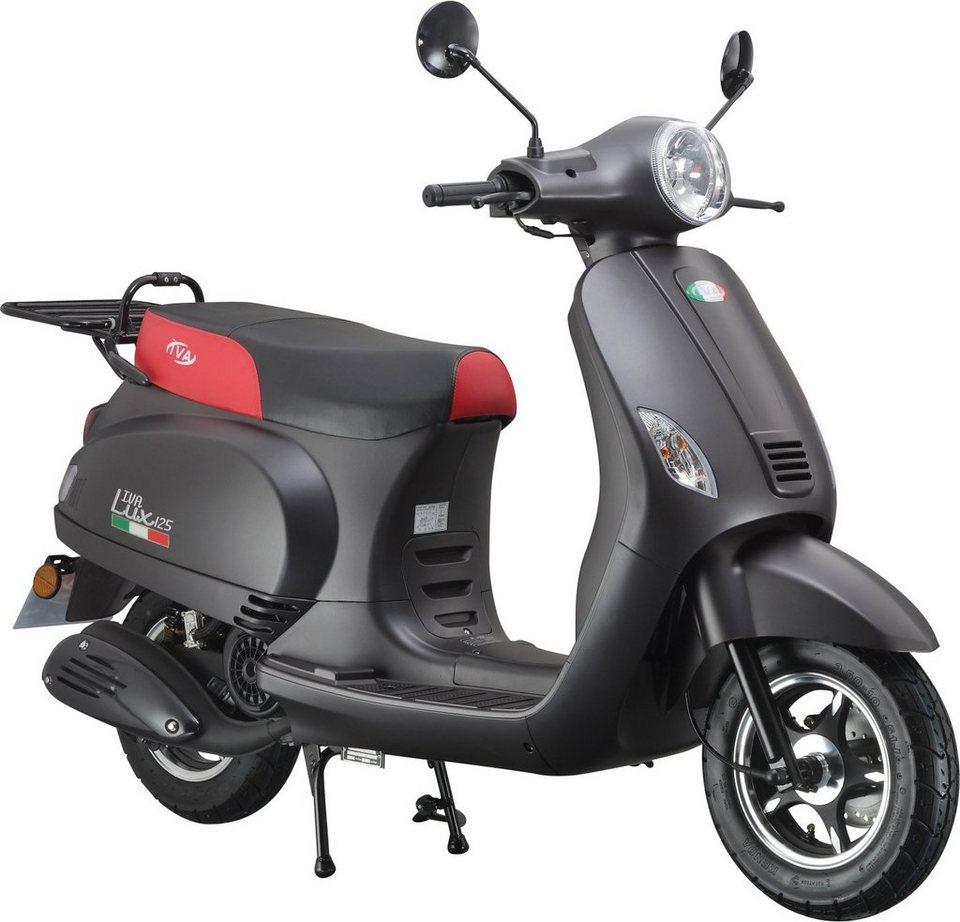 IVA Motorroller, 125 ccm 75 km/h, schwarz-matt, »LUX« in schwarz-matt