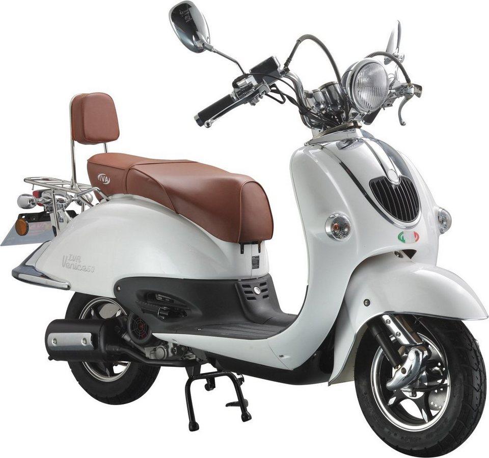 IVA Motorroller Retro,125 ccm 75 km/h, weiß, »VENICE« in weiß