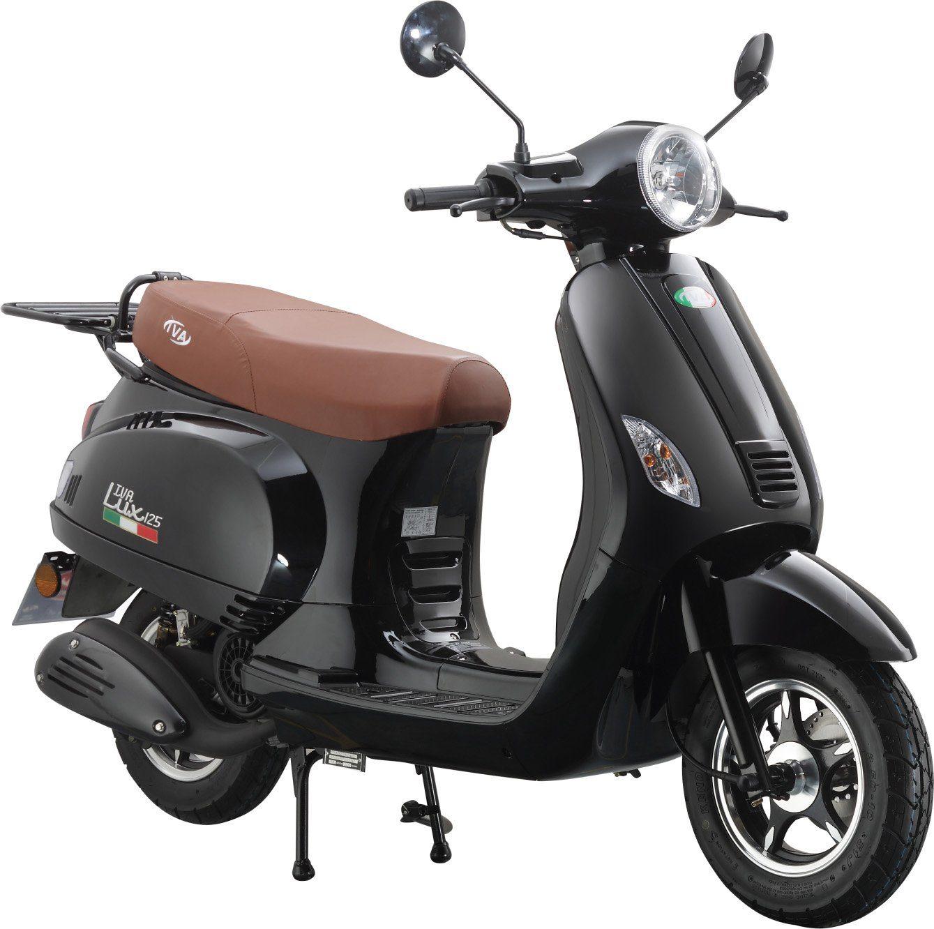 IVA Motorroller, 125 ccm 75 km/h, schwarz-glanz, »LUX«