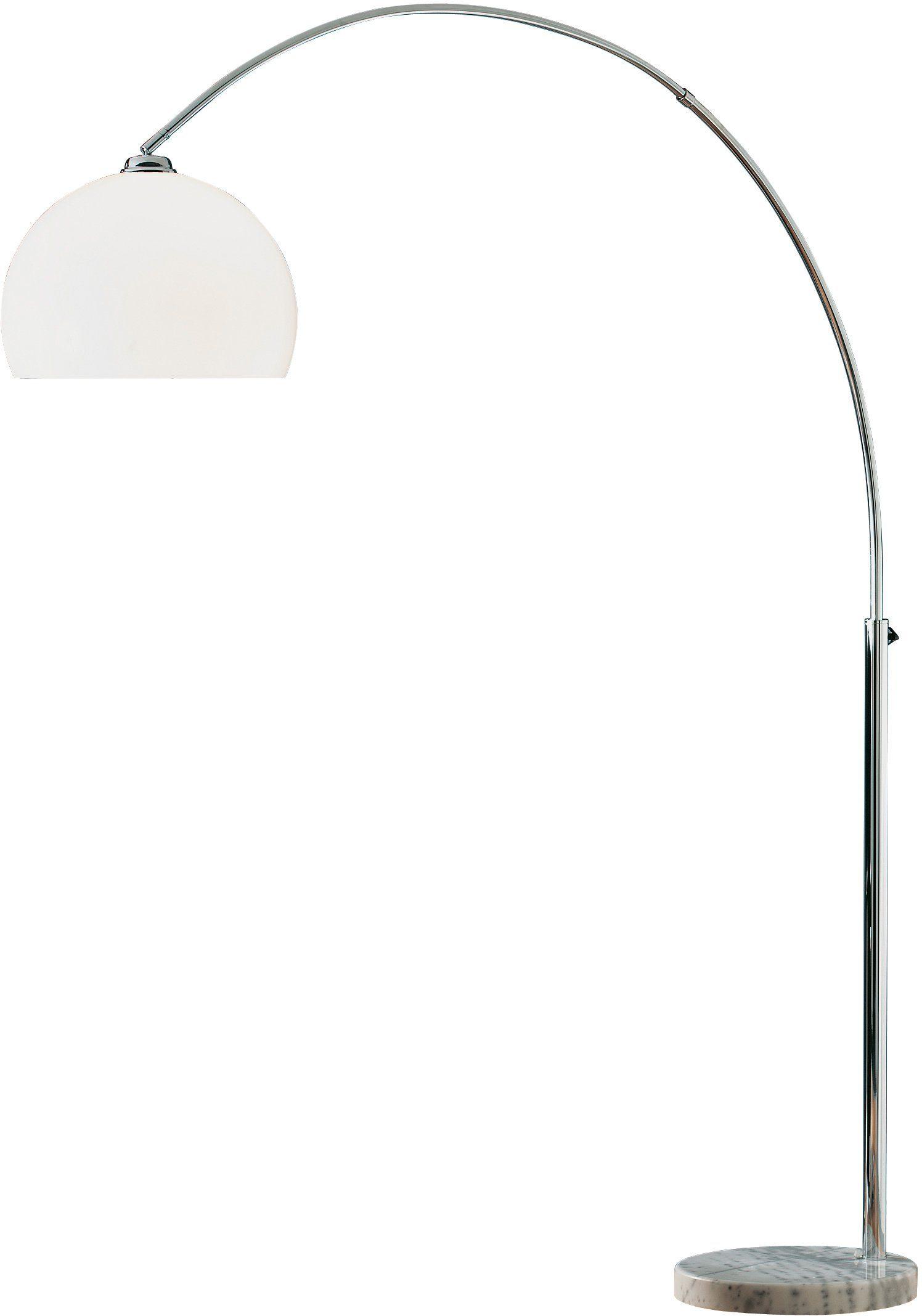 Trio-Leuchten mit Dimmer Höhe 210cm LED-Bogenleuchte Metall weiß