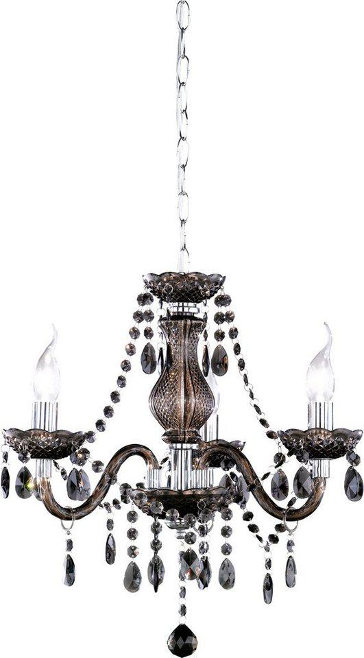 Kronleuchter, Trio. Die Leuchte ist geeignet für Leuchtmittel der EEK A++ bis E. in schwarz