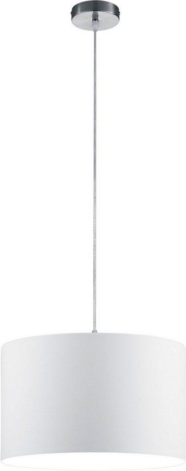TRIO Leuchten Pendelleuchte, 1flg. in Schirm, weiß