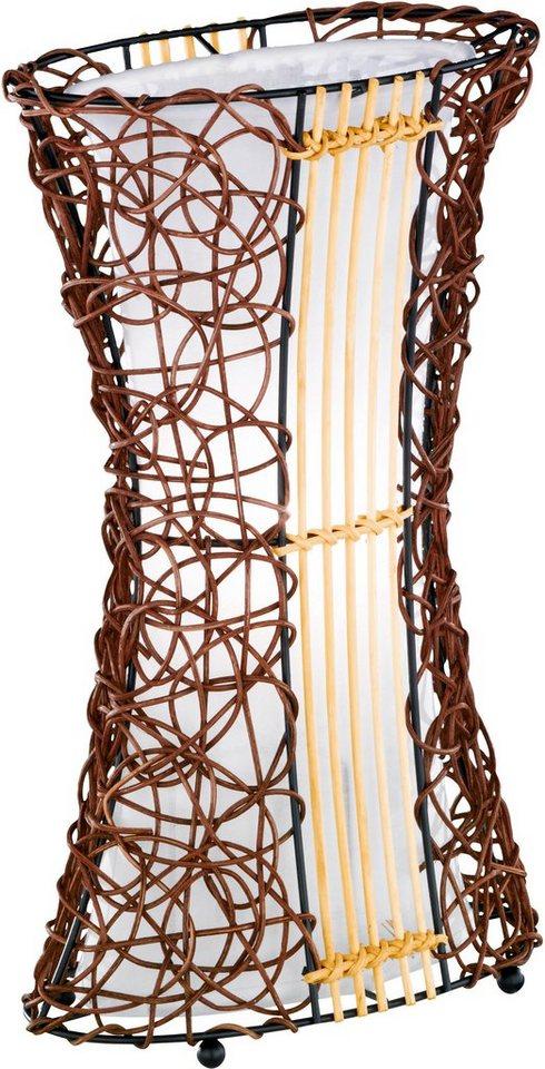 Tischlampe, Trio. Die Leuchte ist geeignet für Leuchtmittel der EEK A++ bis E. in braun