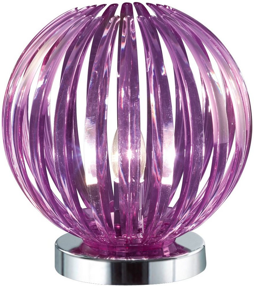 Tischlampe, Trio. Die Leuchte ist geeignet für Leuchtmittel der EEK A++ bis E. in lila