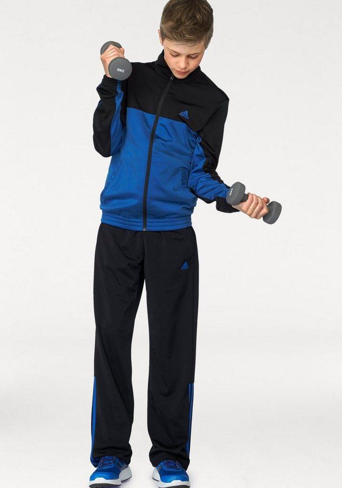 adidas Performance Trainingsanzug »PES MID3S CB TRACKSUIT« in schwarz-blau