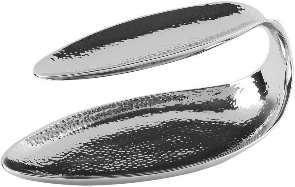 Fink Metall-Etagere »DELTA« in zwei Größen in silberfarben