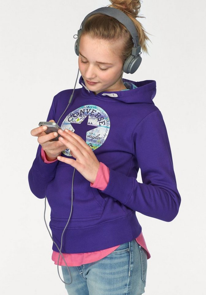 Converse Kapuzensweatshirt in lila