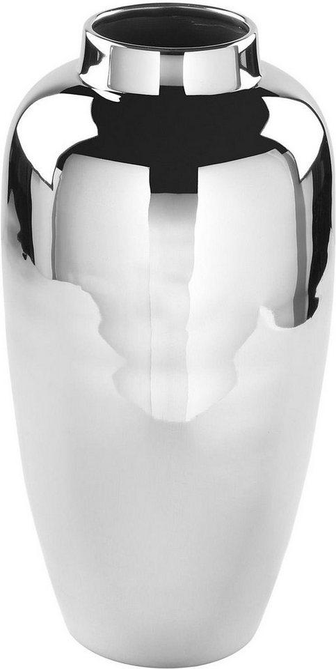 Fink Vase »LIVORNO« vernickelt in silberfarben