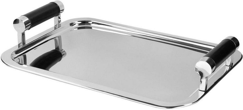Fink Metall-Tablett mit Griffen »MONZA« in zwei Größen in silberfarben