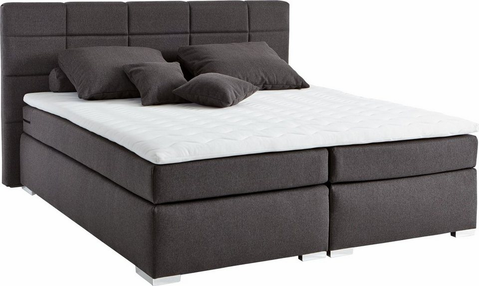 set one by musterring boxspringbett memphis inkl topper. Black Bedroom Furniture Sets. Home Design Ideas