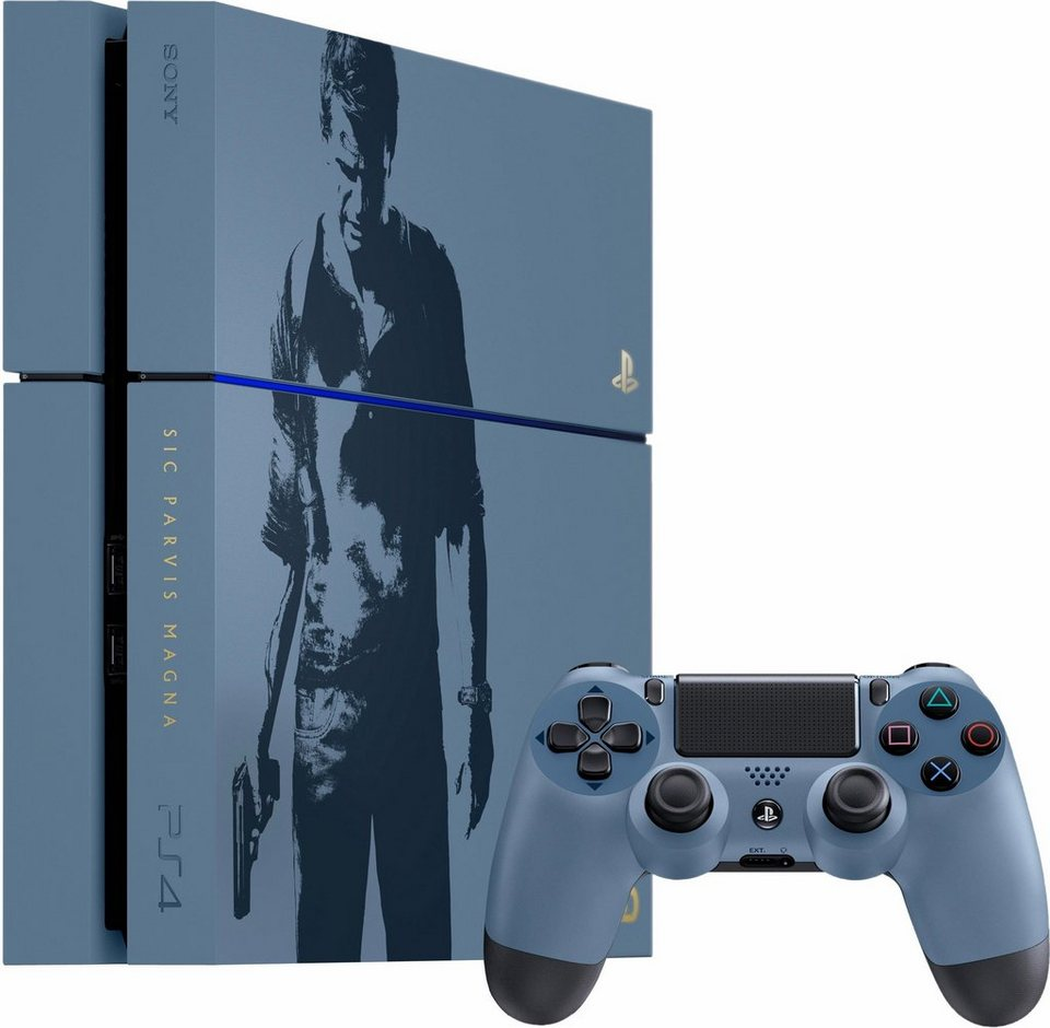 PlayStation 4 (PS4) 1TB + Uncharted 4: A Thief's End Limited Edition in grau