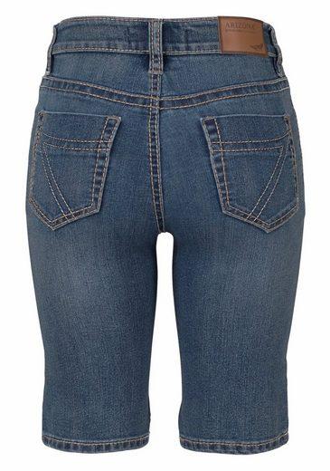 Arizona Jeansbermudas Kontrastnähte, Mid Waist