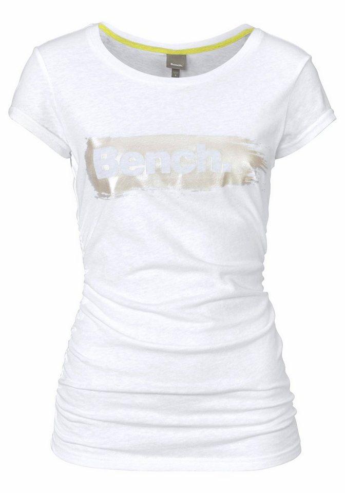 Bench T-Shirt mit Logo Frontdruck in weiß