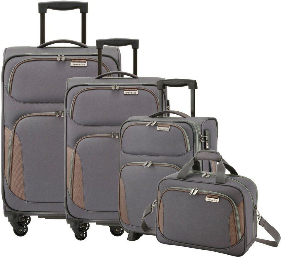 travelite Trolley Set mit 2/4 Rollen und Boardcase, »Orbit« (4tlg.) in anthrazit