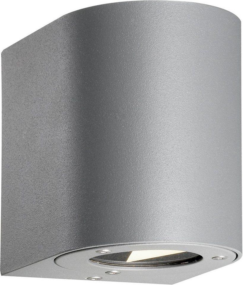 Nordlux LED Außenleuchte, 2 flg., Wandleuchte, »CANTO« in Aluminium