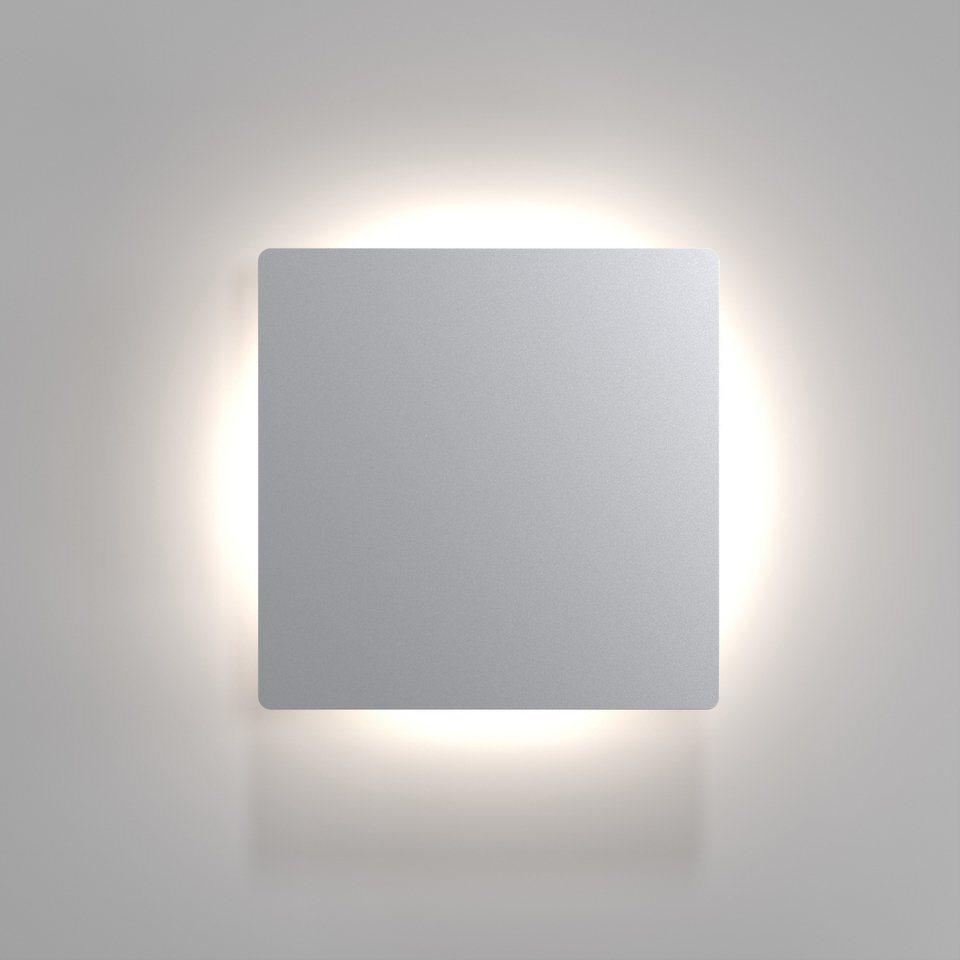 Nordlux LED Außenleuchte, 1 flg., Wandleuchte, »Quadro DISC« in Edelstahl