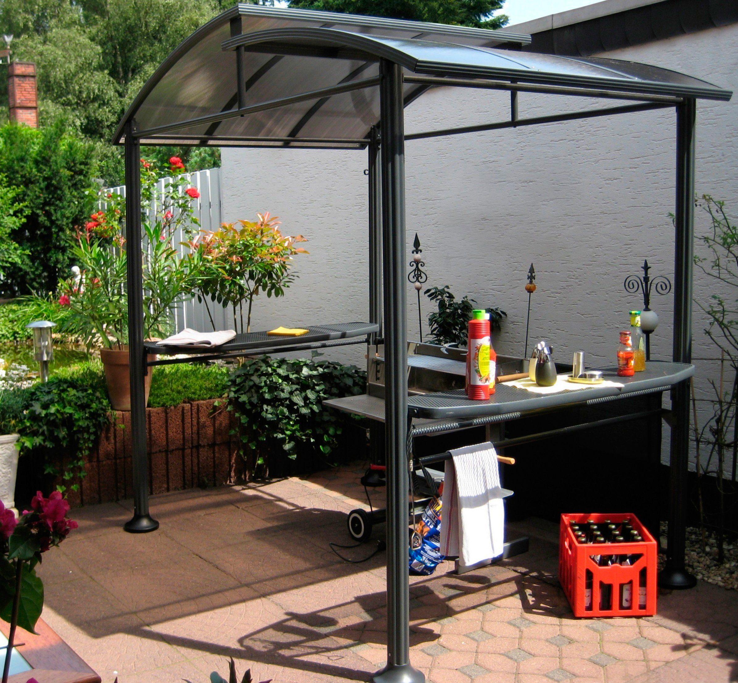 Pavillon, offener Grillpavillon mit Dach