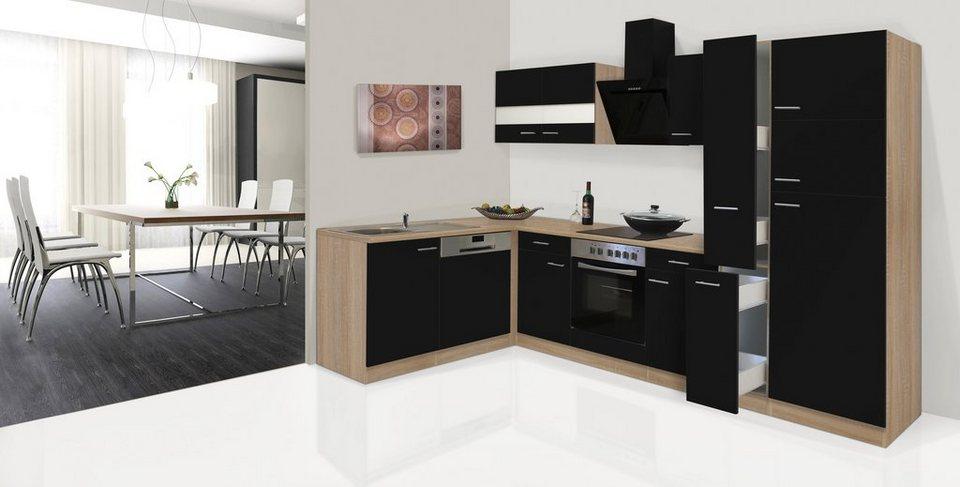 respekta küchenzeile mit e-geräten »hamburg, breite 170 x 310 cm