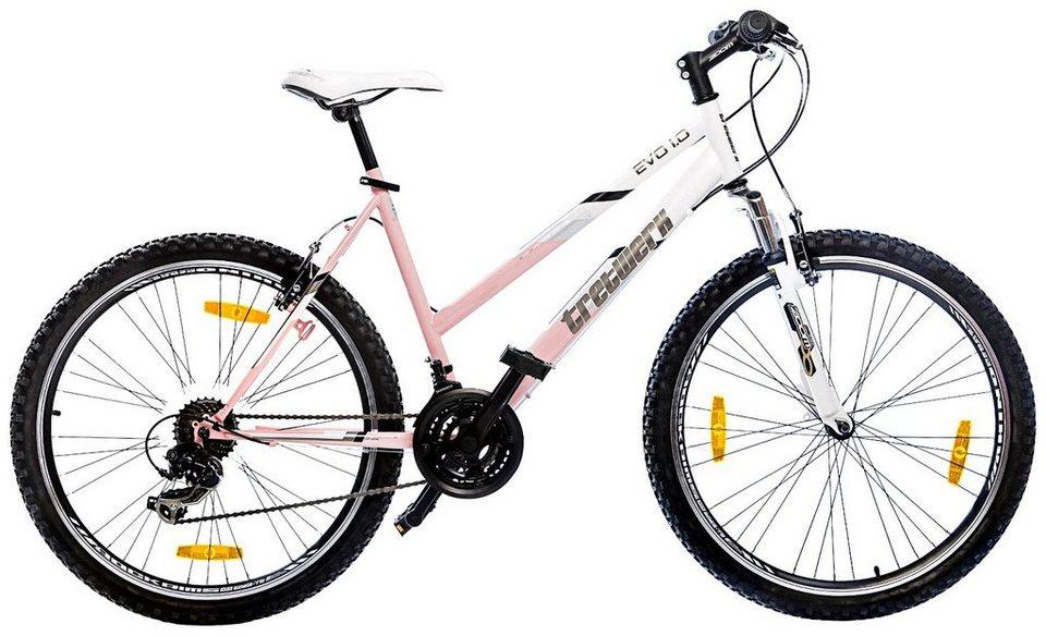 Mountainbike »Eva Lady«, 26 Zoll, 21 Gang, V-Bremsen in weiß