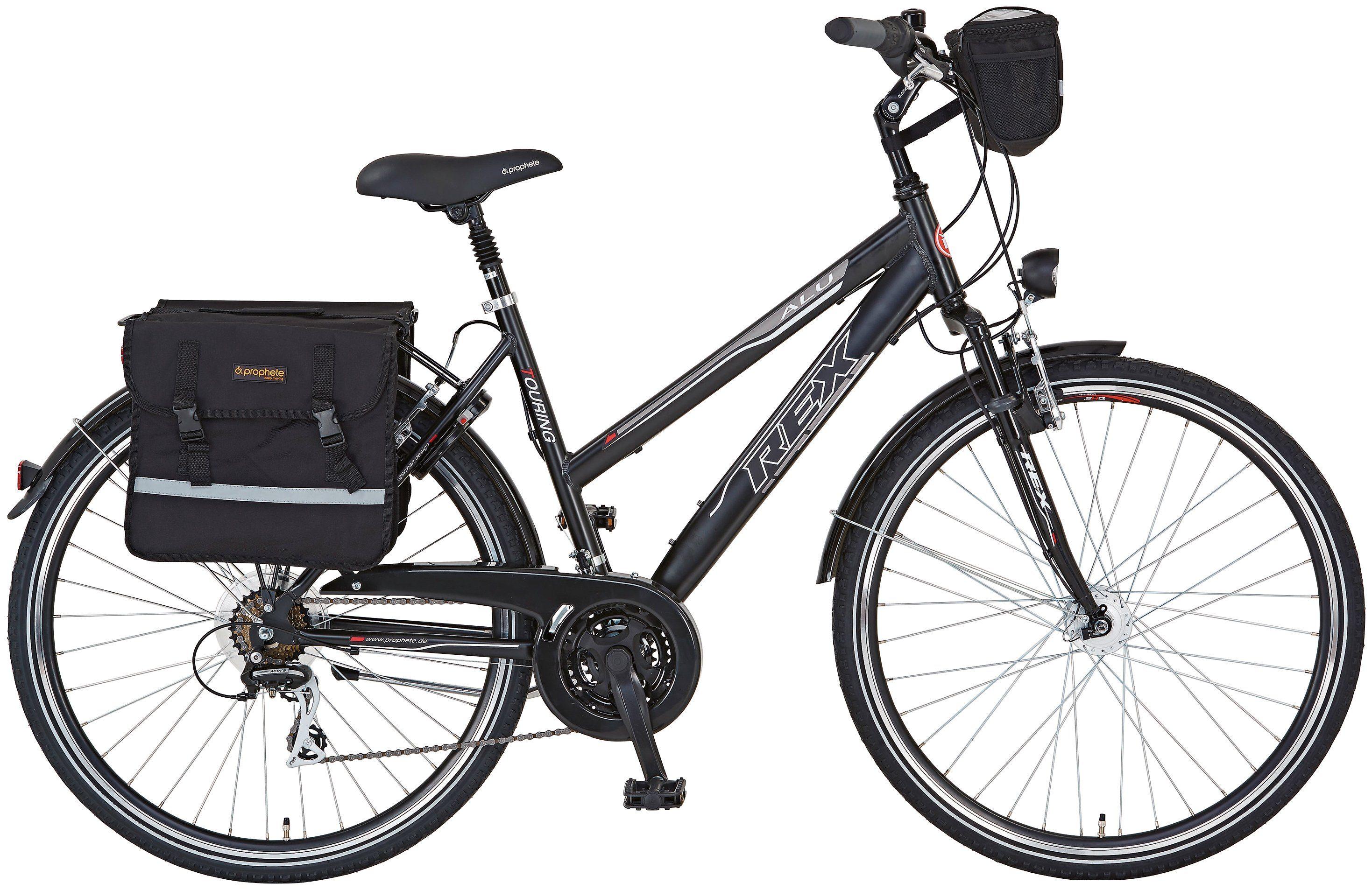 Trekkingrad (Damen) »ENTDECKER 620, 28 Zoll«, SHIMANO Acera 24 Gang, Inkl. Fahrradtaschen