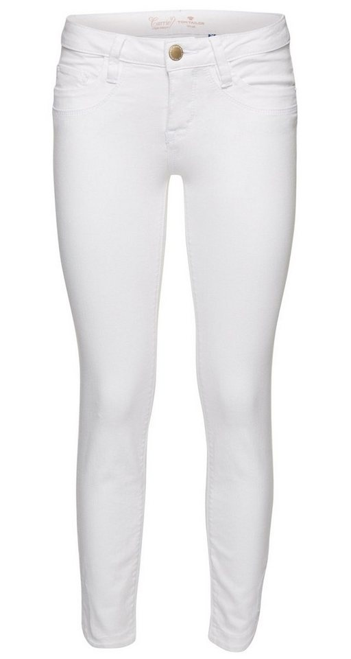 TOM TAILOR Jeans »Slim-Fit-Hose in Ankle-Länge« in white