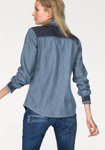 Kangaroos Jean Blouse With Trendy Material Mix