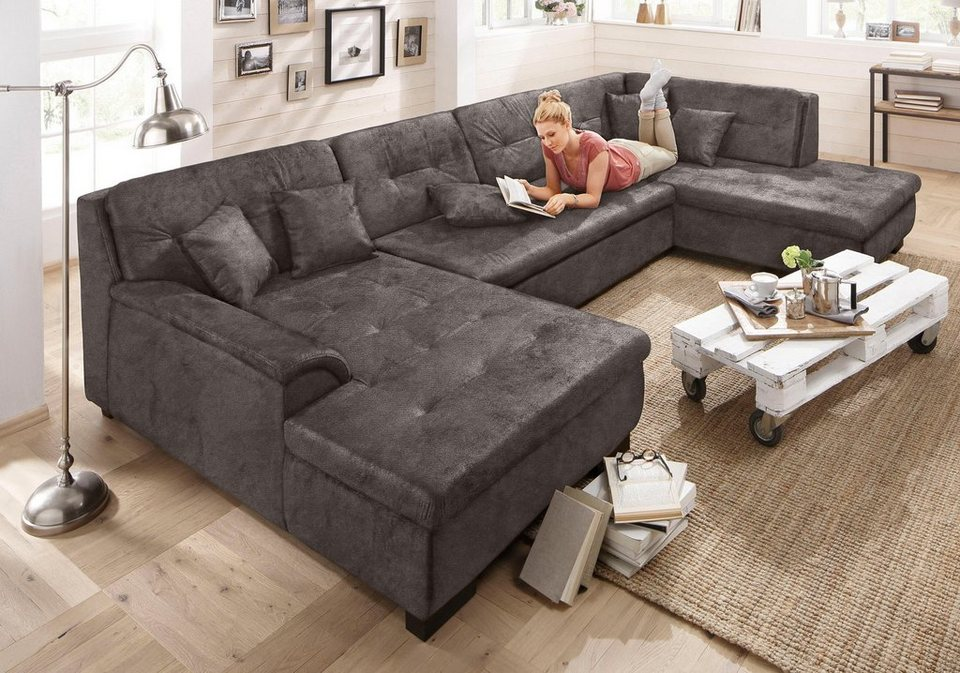 home affaire wohnlandschaft bergen wahlweise mit. Black Bedroom Furniture Sets. Home Design Ideas