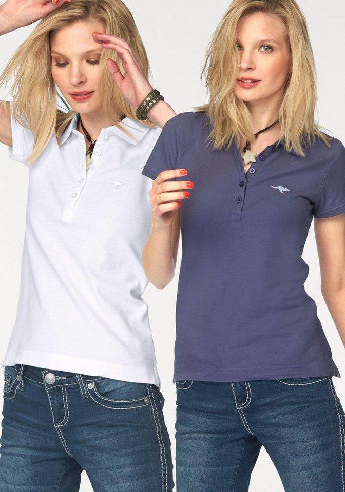 KangaROOS Poloshirt aus Piqué (Packung, 2 tlg.) in marine-weiß
