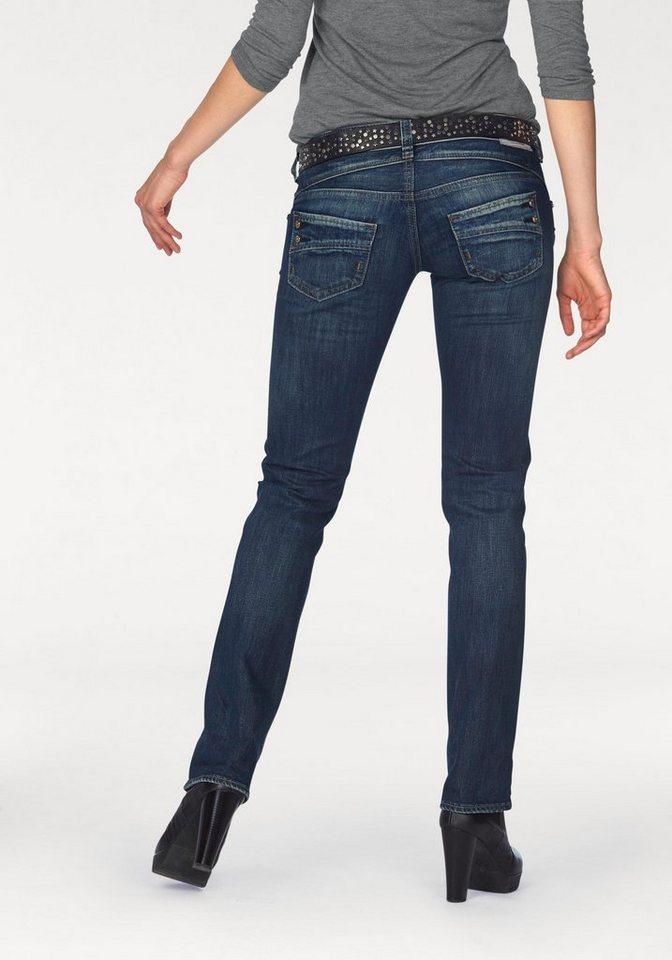 Herrlicher Straight-Jeans »Piper Straight« mit Strassdetails in clean-wash