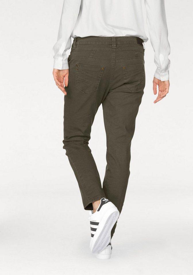 Tom Tailor Denim Tapered-fit-Jeans »Lynn« mit Knopfverschluss in olivgrün