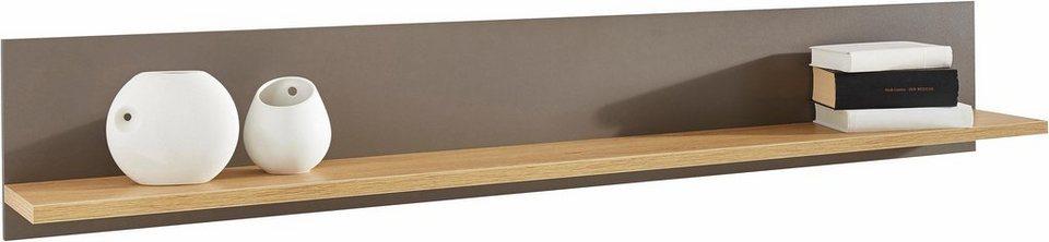 Wandboard, Breite 160 cm in grau/steineichefarben