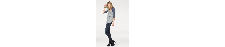 Herrlicher 3/4-Arm-Shirt Emilia, mit großem Frontprint