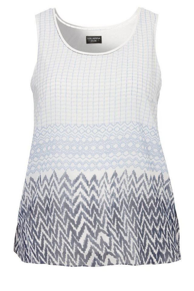 "VIA APPIA DUE 2-in-1 zweilagiges Blusen-Top »""Ethnic Rise""« in CHINA BLAU MULTICOLO"