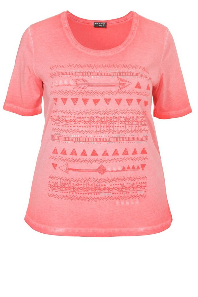"""VIA APPIA DUE Baumwoll-T-Shirt »""""Happy Summer""""« in ROT"""