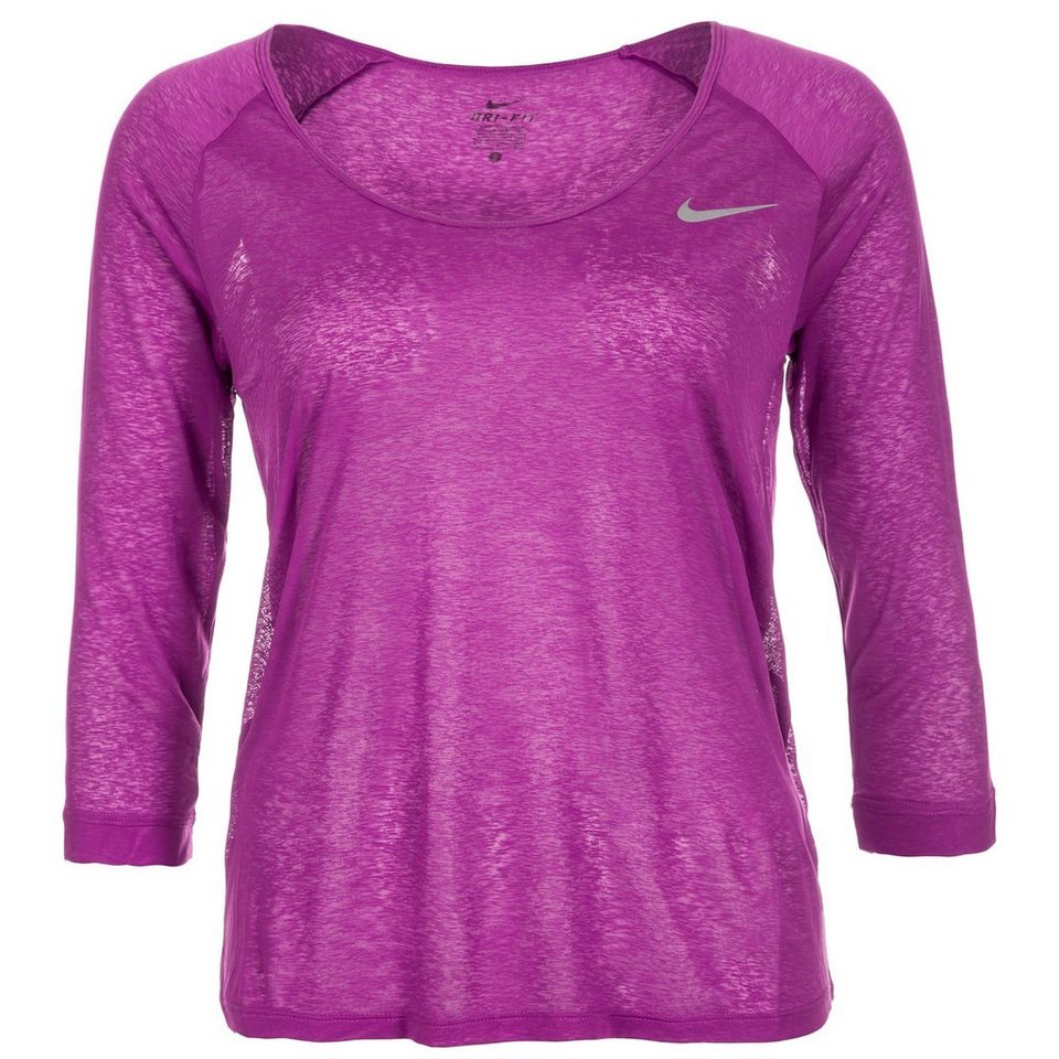 NIKE Dri-FIT Cool 3/4 Laufshirt Damen in lila
