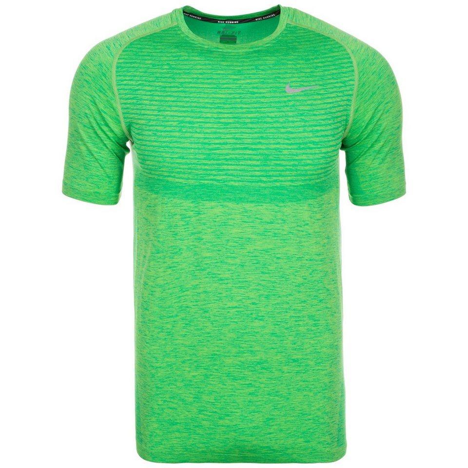 NIKE Dri-FIT Knit Laufshirt Herren in grün