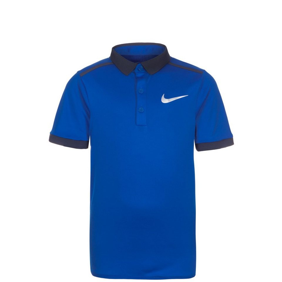 NIKE Court Advantage Solid Tennispolo Kinder in blau / dunkelblau