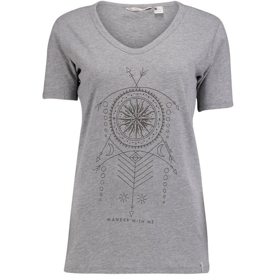 O'Neill T-Shirt kurzärmlig »Vee Neck« in Silbergrau