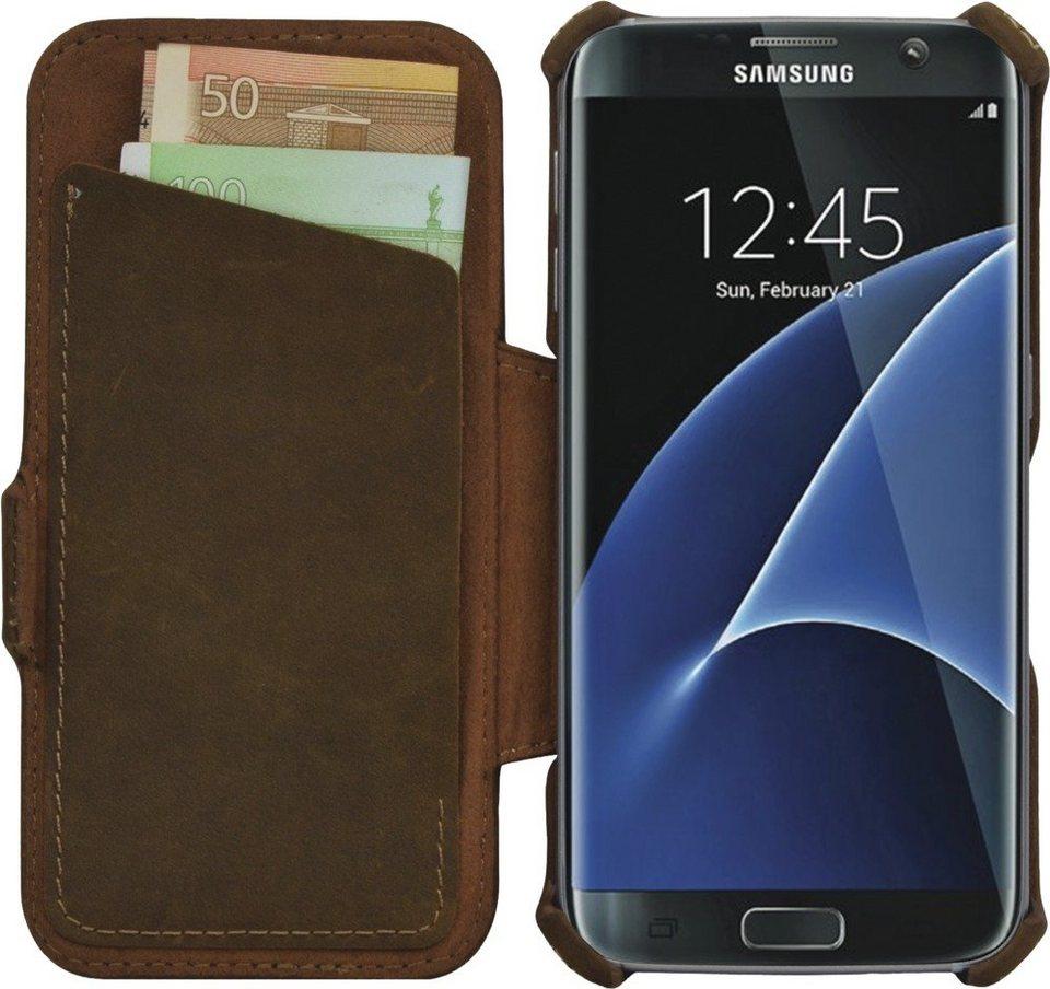 Leicke Nappaleder Schutzhülle passend für das Galaxy S7 »MANNA UltraSlim« in braun