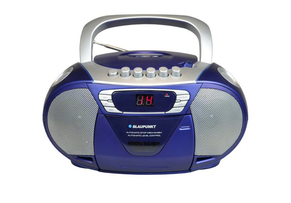 Blaupunkt Tragbares CD-Radio mit Kassettenplayer »B-11« in blau