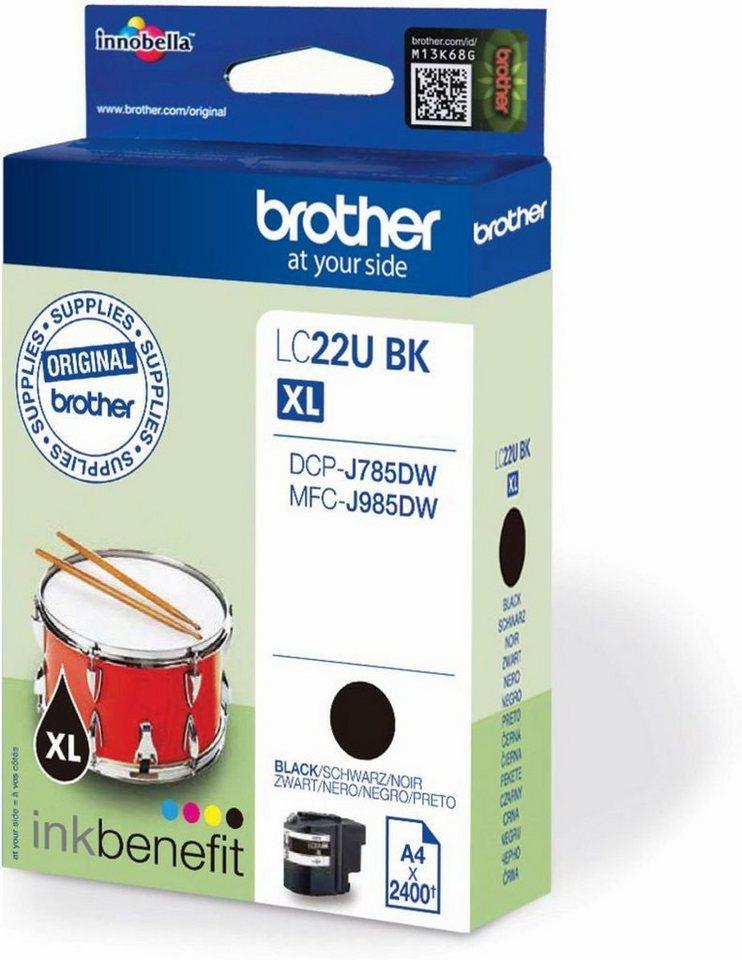 Brother Tintenpatrone »Tintenpatrone LC-22UBK« in keine Farbe