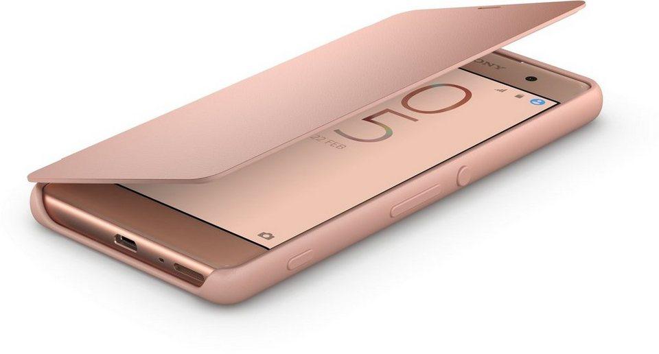 Sony Handyhülle »Smartphone-Flipcover SCR54 für Xperia XA« in Roségold