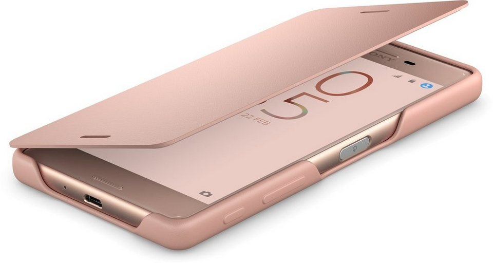 Sony Handytasche »Smartphone-Flipcover SCR52 für Xperia X« in Roségold