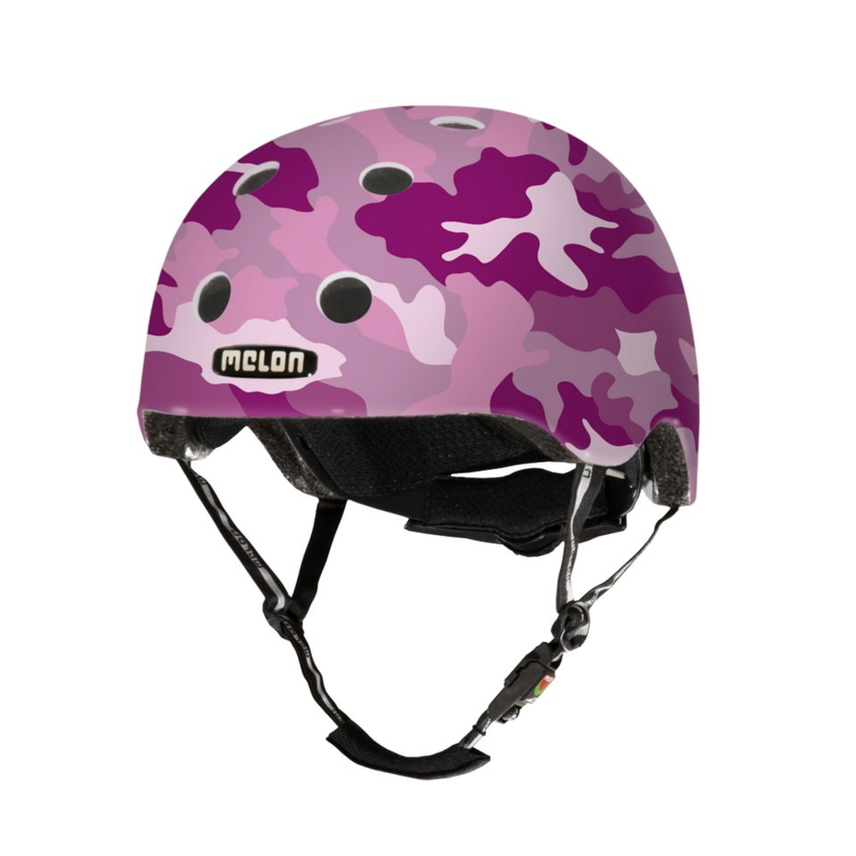 Melon Helm »Stories Collection - Camouflage (XXS-S) matt« in Pink