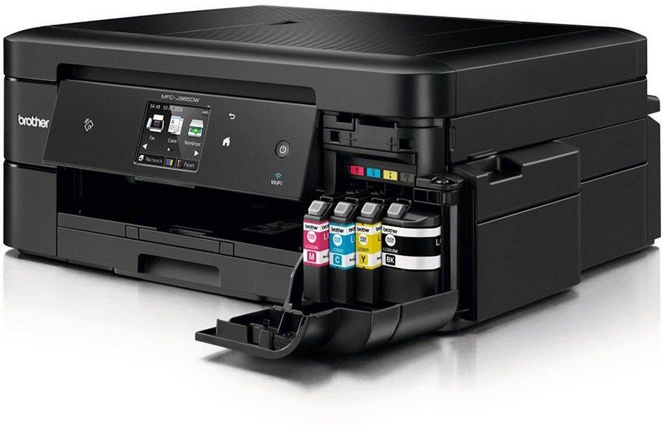 Brother Tintenstrahl-Multifunktionsdrucker »MFC-J985DW 4in1 Multifunktionsdrucker« in Schwarz