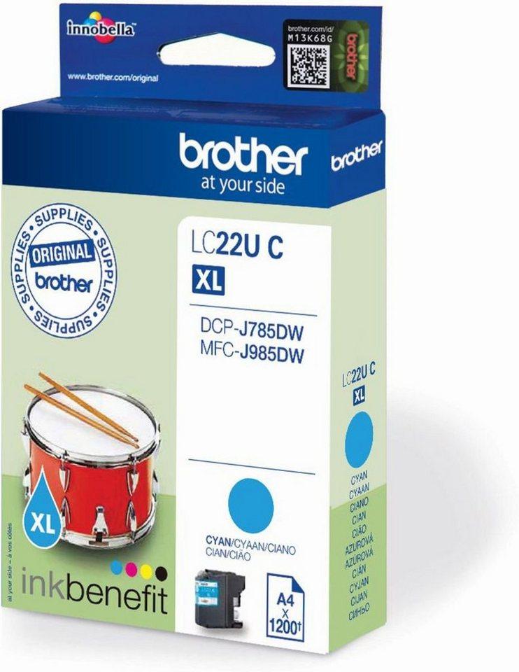 Brother Tintenpatrone »Tintenpatrone LC-22UC« in keine Farbe