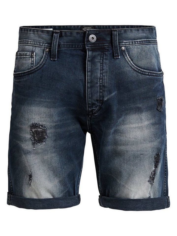 Jack & Jones 5-Taschen Jeansshorts in Blue Denim